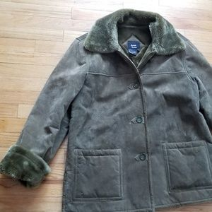 Suede Shearling coat Size L Dennis Basso